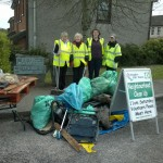 Bracken Court Clean-Up: A big pile of rubbish (and there was more to come). Well done girls (and boys)!