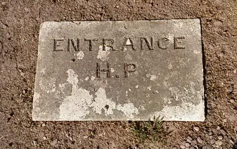 Entrance to Hugh Pollock's vault, St. Luke's graveyard.
