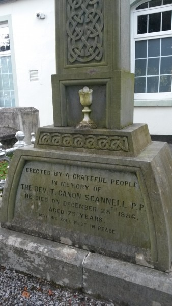 Memorial to Canon Scannell, next to St. Columba's church