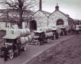 Wool for New York departs St. Patrick's (O'Brien's) Woollen Mills, 1929. Courtesy of the Irish Examiner.