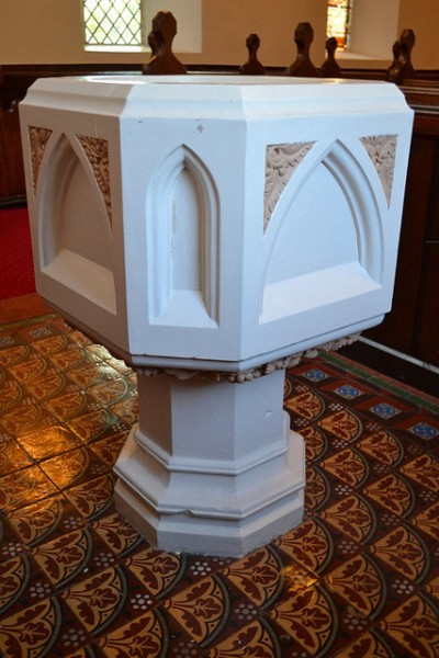 Baptismal Font, St. Luke's. Courtesy of Darren Wilkinson.