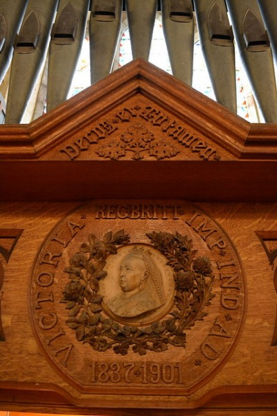 Relief of Queen Victoria, St. Luke's. Courtesy of Darren Wilkinson.